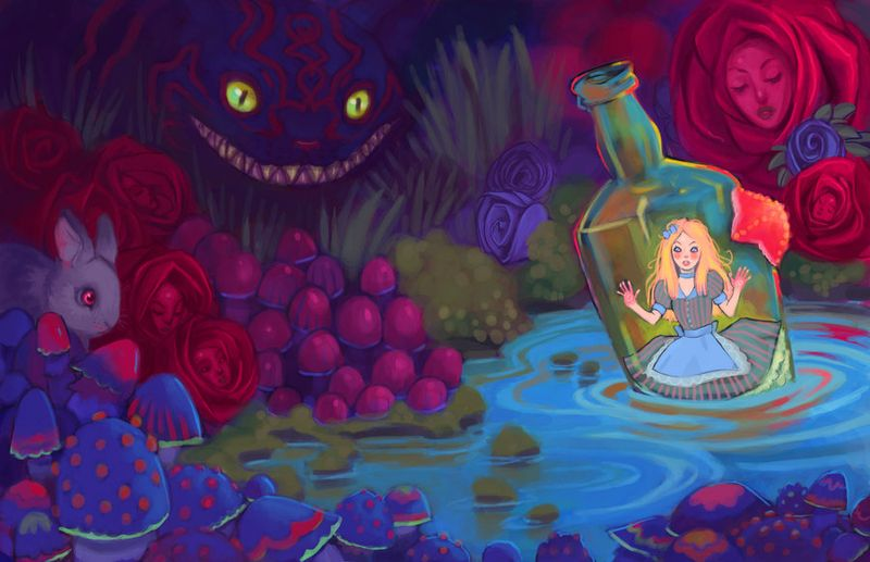 Alice_in_Wonderland_by_UlaFish