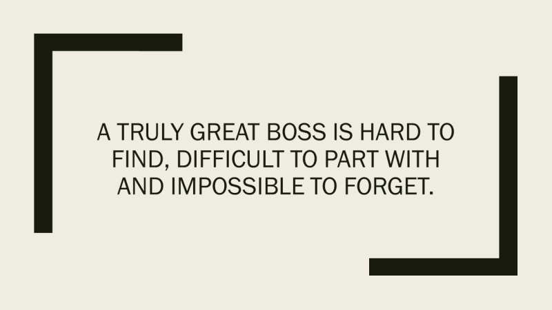 Great Boss